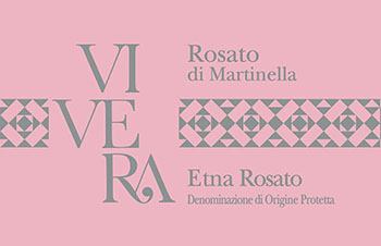 Rosato di Martinella etichetta Vino Etna Vivera